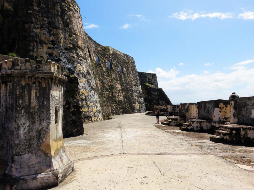 Inside El Morro Fort San Juan Puerto, Rico
