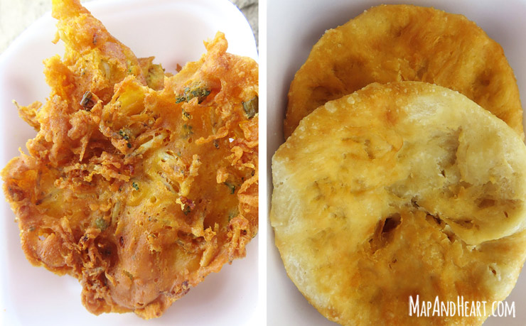 Food in Dominica: Akra and Bakes
