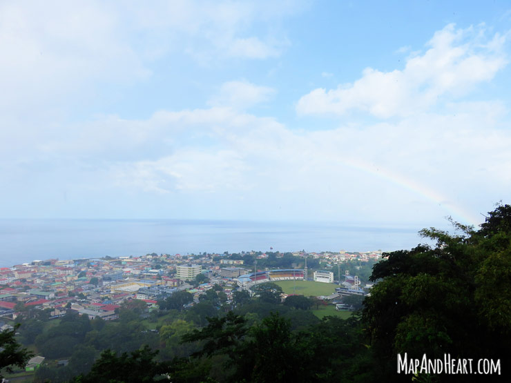 Rainbow view from Morne Bruce, Dominica