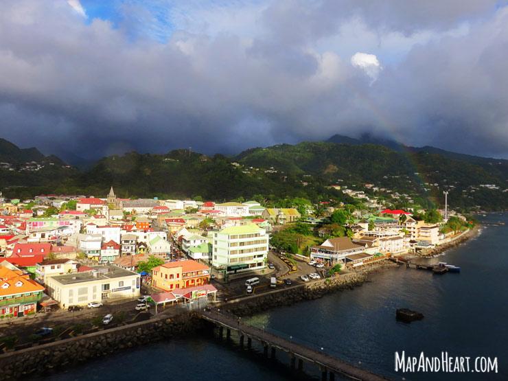 Rainbow over Roseau, Dominica