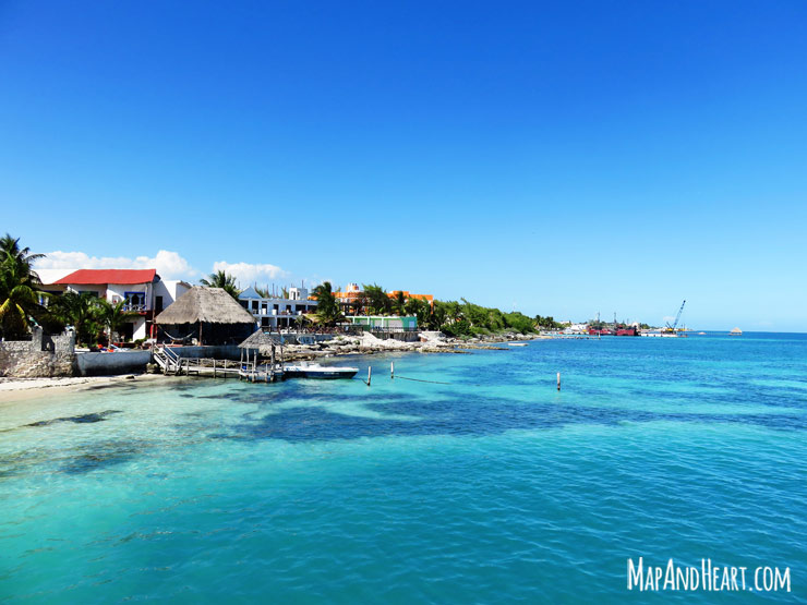 Arriving at Isla Mujeres by ferry