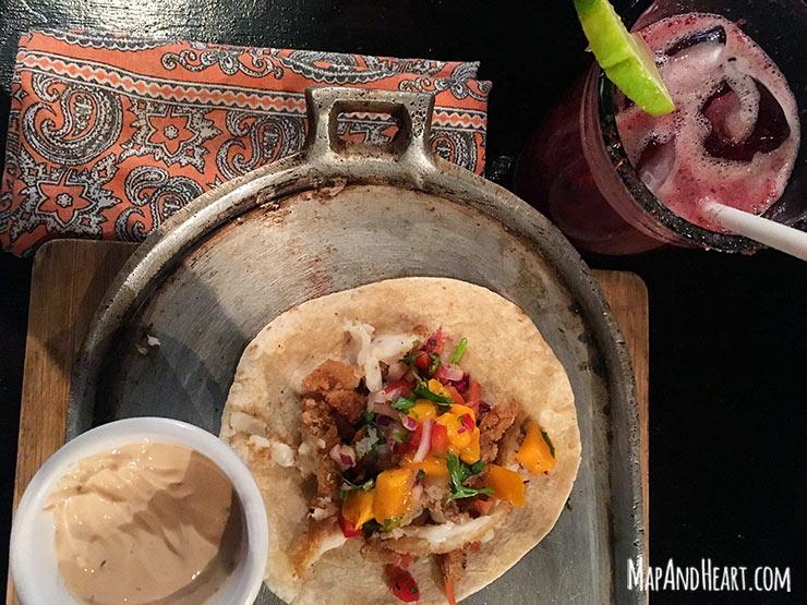 Fish Tacos at Lola Valentino Isla Mujeres, Mexico