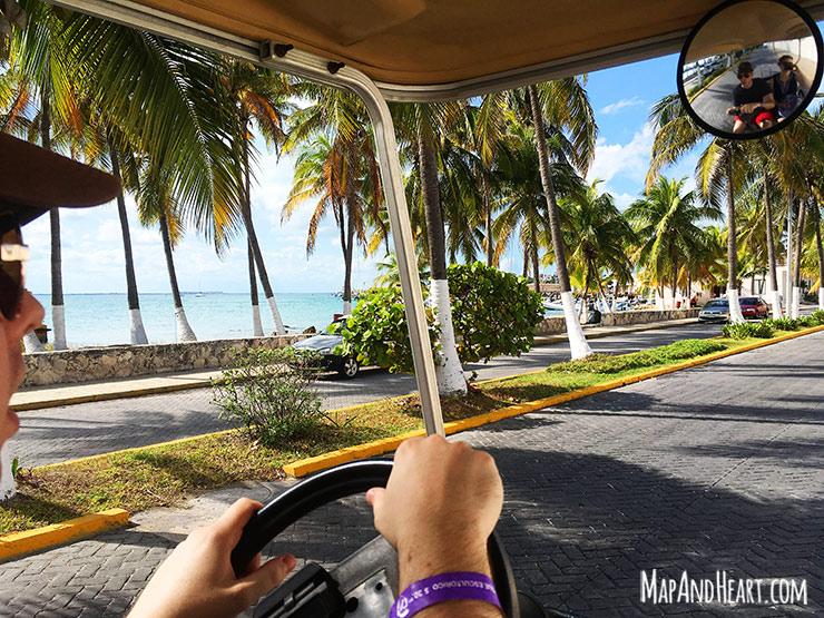 Isla Mujeres, Mexico golf cart